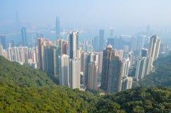Opinión de Hong-Kong Imagenes de archivo