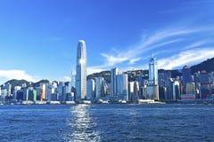 Opinión de Hong Kong a lo largo de Victoria Harbor Fotografía de archivo libre de regalías