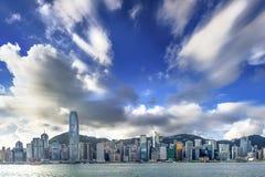 Opinión de Hong Kong Victoria Harbor foto de archivo libre de regalías