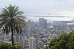 Opinión de Honolulu Foto de archivo