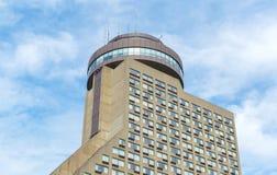 Opinión de Hotel Le Concorde en cielo azul soleado del verano fotografía de archivo