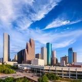 Opinión de Houston Skyline North en Tejas los E.E.U.U. Fotos de archivo