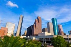 Opinión de Houston Skyline North en Tejas los E.E.U.U. Foto de archivo libre de regalías