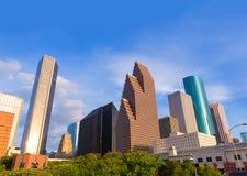 Opinión de Houston Skyline North en Tejas los E.E.U.U. Imagenes de archivo