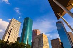Opinión de Houston Skyline North en Tejas los E.E.U.U. Fotos de archivo libres de regalías