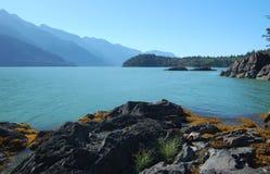 Opinión de Howe Sound imagen de archivo