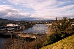Opinión de Inverness del castillo Foto de archivo