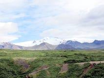 Opinión de Islandia de las montañas 2017 de Hvannadalshnukur Fotografía de archivo libre de regalías