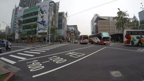 opinión de 4k Timelapse de la ciudad Taipei Mirada del paso del tráfico en Taiwán almacen de video