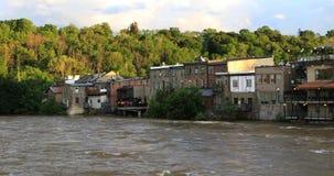 opinión de 4K UltraHD de la inundación en París, Canadá almacen de metraje de vídeo