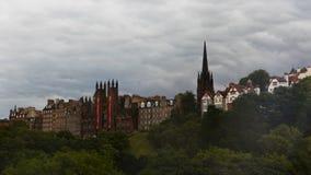 opinión de 4K UltraHD Timelapse de Edimburgo, Escocia almacen de metraje de vídeo