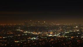 opinión de 4K UltraHD Timelapse sobre Los Ángeles en la noche almacen de metraje de vídeo
