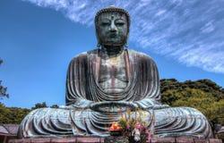 Opinión de Kamakura Buda imagen de archivo