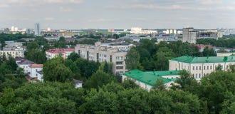 Opinión de Kazán de la ciudad del top fotografía de archivo