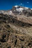 Opinión de Kilimanjaro de la ruta de Machame Foto de archivo libre de regalías