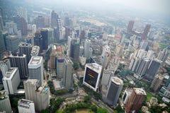 Opinión de Kuala Lumpur de la torre del kilolitro fotos de archivo