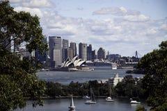 Opinión de la ópera de Sydney Fotografía de archivo