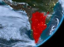 Opinión de la órbita de la Argentina en la noche libre illustration