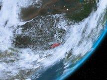 Opinión de la órbita de Bhután en la noche libre illustration
