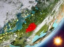 Opinión de la órbita de Bielorrusia durante salida del sol libre illustration