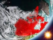 Opinión de la órbita de Canadá durante salida del sol libre illustration