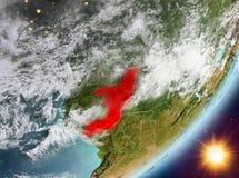 Opinión de la órbita de Congo durante salida del sol libre illustration