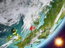 Opinión de la órbita de Dinamarca durante salida del sol libre illustration