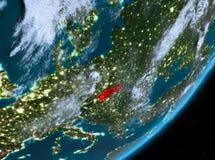 Opinión de la órbita de Eslovaquia en la noche libre illustration