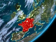 Opinión de la órbita de Francia en la noche libre illustration