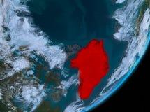 Opinión de la órbita de Groenlandia en la noche libre illustration