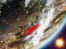 Opinión de la órbita de Kirguistán durante salida del sol libre illustration