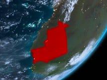 Opinión de la órbita de Mauritania en la noche libre illustration