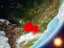 Opinión de la órbita de Paraguay durante salida del sol libre illustration