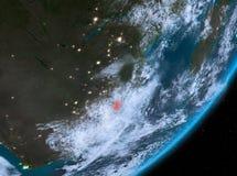 Opinión de la órbita de Swazilandia en la noche libre illustration