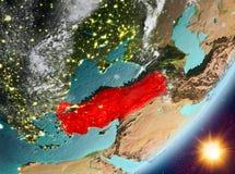 Opinión de la órbita de Turquía durante salida del sol libre illustration