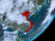 Opinión de la órbita de Vietnam en la noche libre illustration