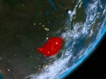 Opinión de la órbita de Zimbabwe en la noche libre illustration