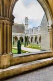 Opinión de la abadía de Royaumont sobre el parque, Francia Imagen de archivo libre de regalías
