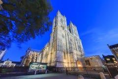 Opinión de la abadía de Westminster famosa, Londres, rey unido de la noche Fotos de archivo libres de regalías