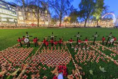 Opinión de la abadía de Westminster famosa, Londres, rey unido de la noche Foto de archivo