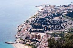 Opinión de la aleación de aluminio de Palermo Imagen de archivo