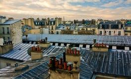 Opinión de la azotea de París Fotos de archivo libres de regalías
