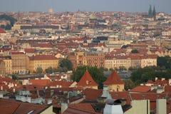Opinión de la azotea de Praga Imágenes de archivo libres de regalías