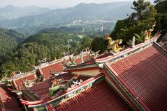 Opinión de la azotea del templo de Swee de la barbilla, montaña de Genting Foto de archivo