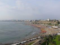 Opinión de la bahía de Lima de Chorrillos Fotografía de archivo libre de regalías