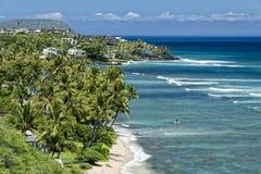 Opinión de la bahía del hanauma de Hawaii Oahu fotografía de archivo