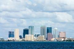 Opinión de la bahía del horizonte de Tampa Foto de archivo
