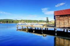 Opinión de la bahía en Tacoma, Washington foto de archivo