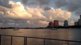 Opinión de la bahía de WPB imagen de archivo libre de regalías