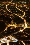 opinión de la Brasov-noche Fotografía de archivo